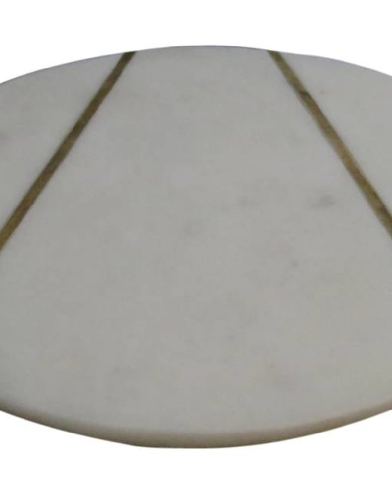 Med. Marble Plate w/Brass Inlay
