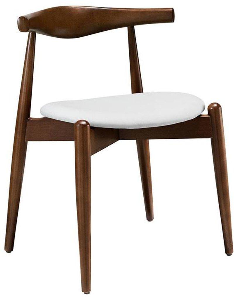Stalwart Dining Side Chair in Dark Walnut White
