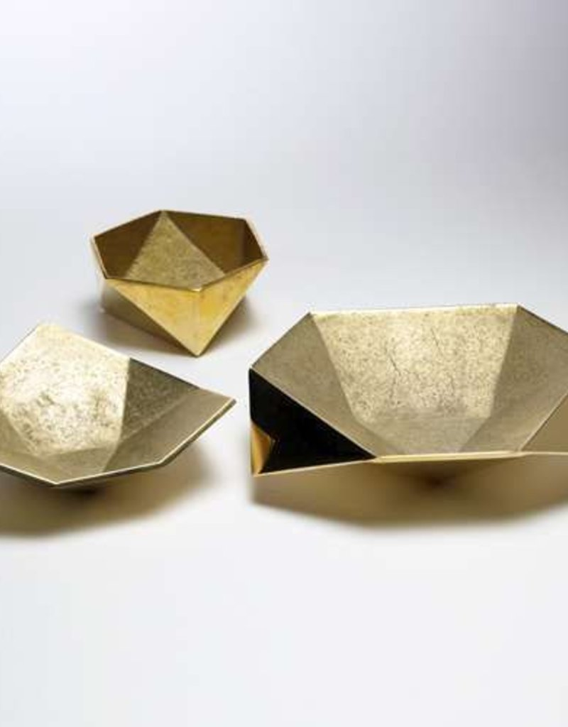 Origami Bowls-Brass-Set of 3