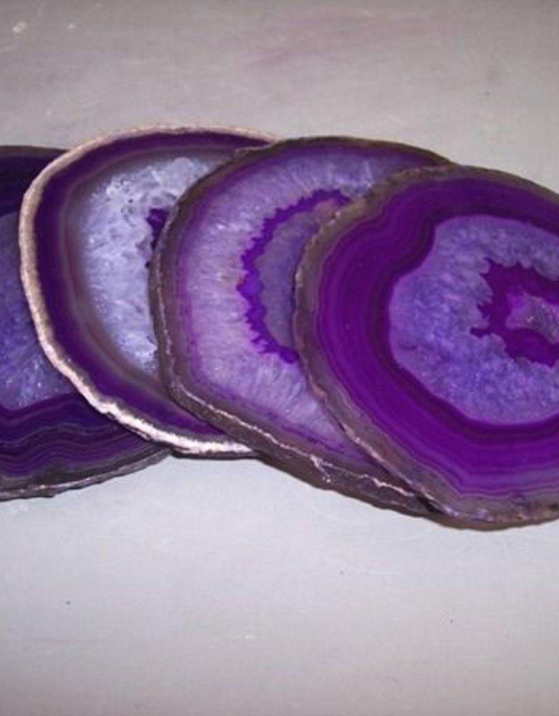 Set of 4 Agate Coasters