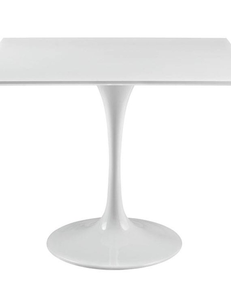 White Wood Faux Saarinen Table