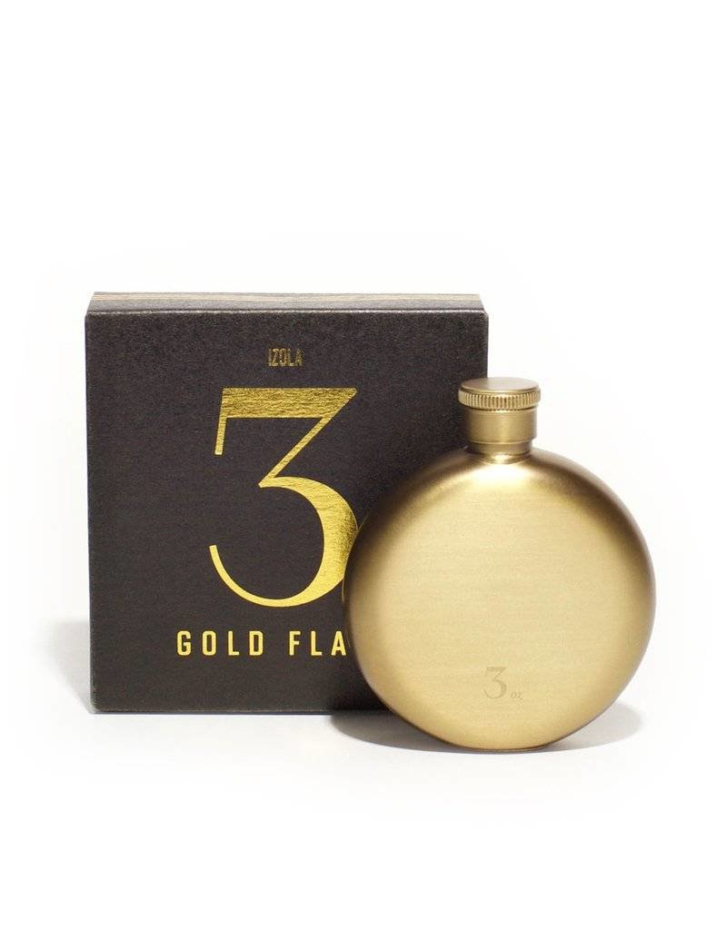 Brushed Gold Flask