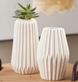 Ceramic Fluted Vases