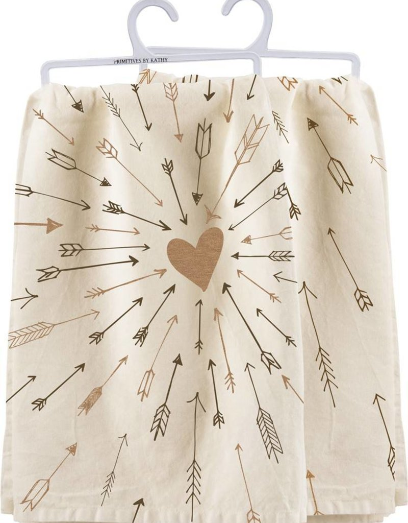 Love Arrows Dish Towel