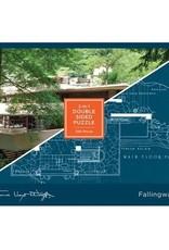 Chronicle Books Puzzle 500 2 Sided Frank Lloyd Wright Fallingwater
