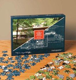 Chronicle Books Puzzle 500 2 Sided Frank Lloyd Wright Fallingwater