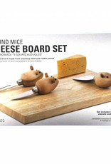 Kikkerland Cheese Board and Mouse Knives (set of 3)