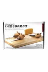 Kikkerland Cheese Board and Mouse Knives
