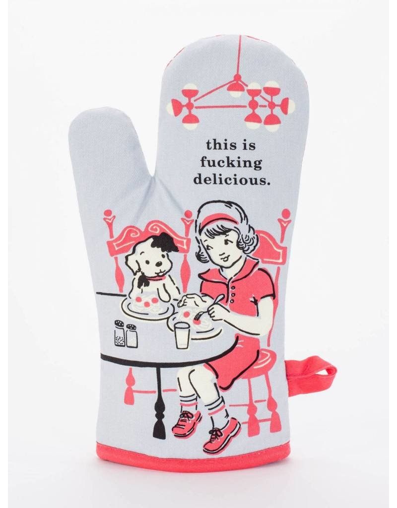 Blue Q F*cking Delicious Oven Mitt