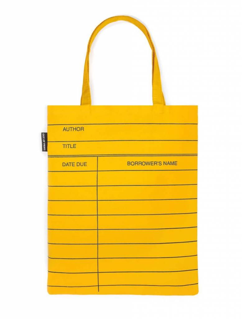 Out Of Print Library Card Tote Bag