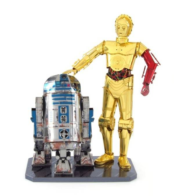 Fascinations Metal Earth R2D2 C-3PO Set