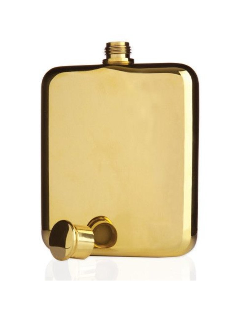 True Fabrications 14K Gold Plated Flask 6oz