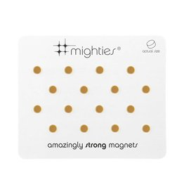 THREE BY THREE 16 pk Round Mighty Magnet GOLD
