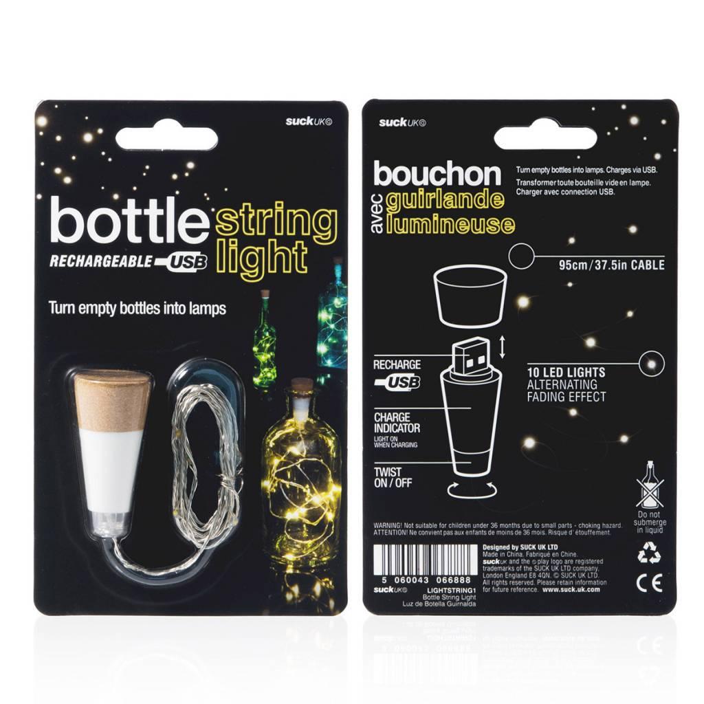 Suck UK Bottle Light with String