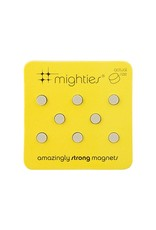 THREE BY THREE 8 pk Round Mighty Magnet Silver