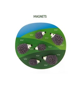 THREE BY THREE Hedgehog Magnet