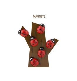 THREE BY THREE Lady Bug Magnet