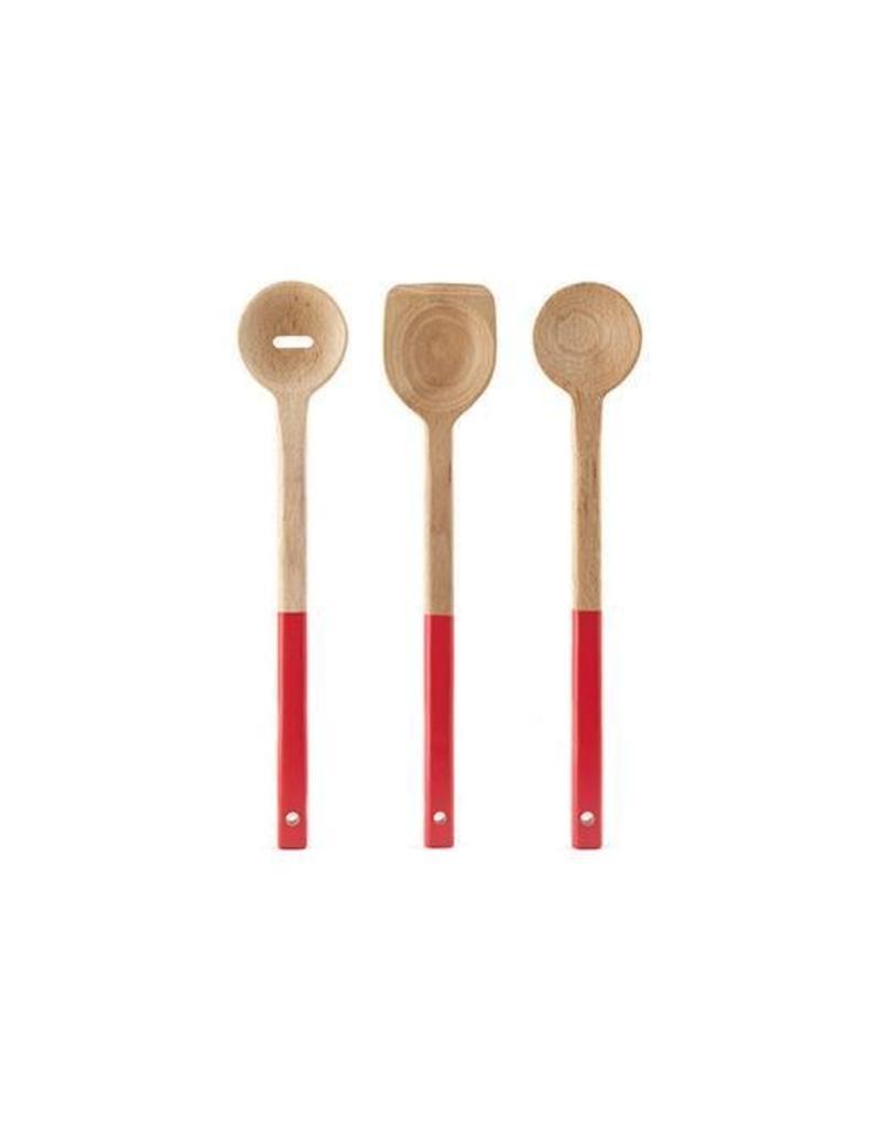 Kikkerland Wood Spoon S/3