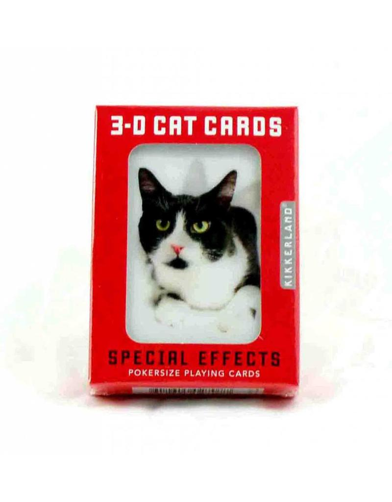Kikkerland Cats 3D Playing Cards