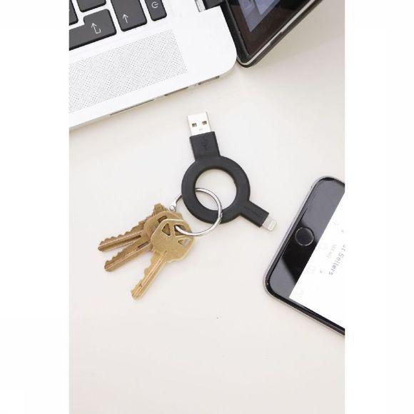 Kikkerland Charge & Sync Keychain Black