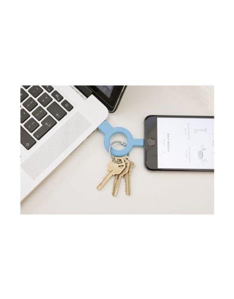 Kikkerland Charge & Sync Keychain Blue