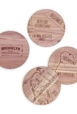 Neighborwood Brooklyn Cedar Coaster Set