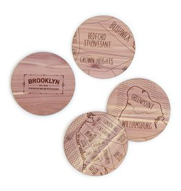 Neighborwood Cedar Coaster Set