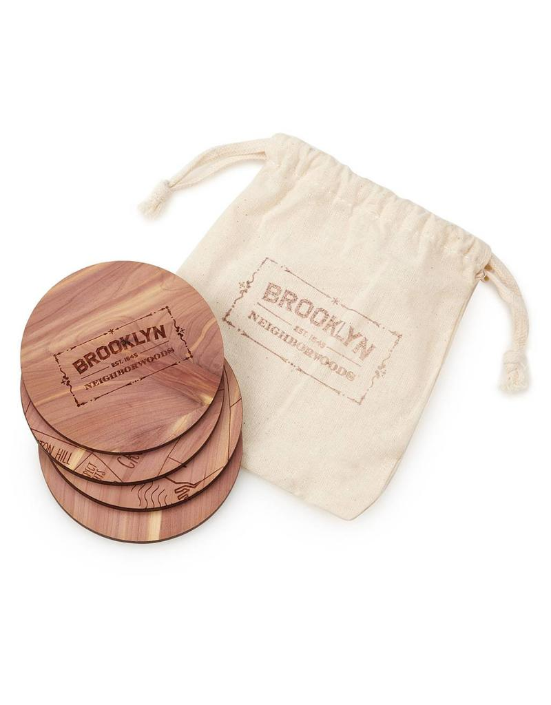 Neighborwood Brooklyn Cedar Coaster Set