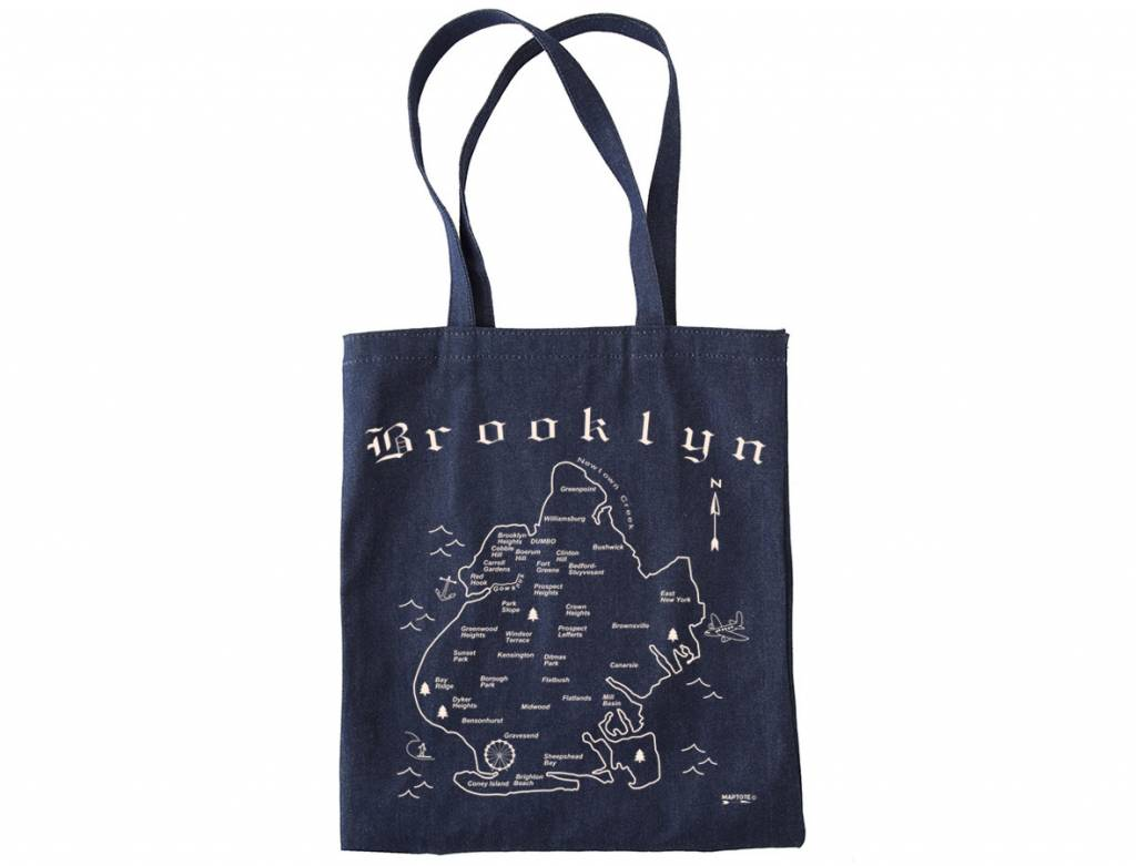 map tote brooklyn denim . brooklyn map tote made in brooklyn  denim cotton  exit
