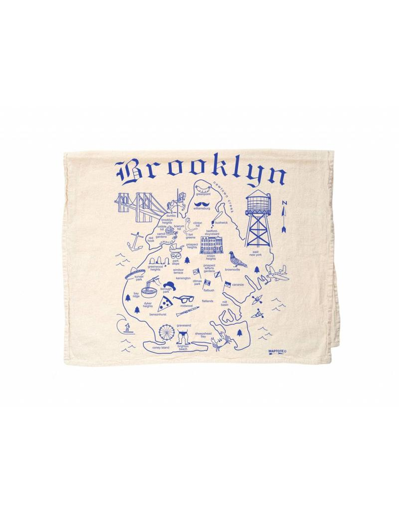 Map Tote Brooklyn Tea Towel