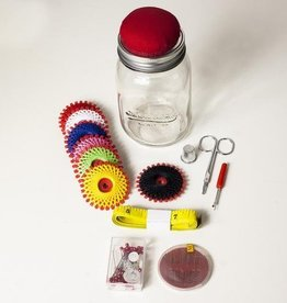 Kikkerland Mason Jar Sewing Kit