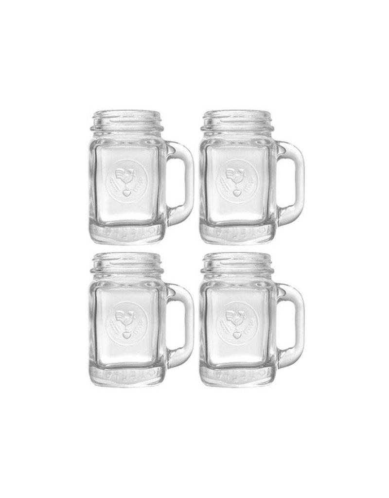Kikkerland Mason Jar Shot Glasses