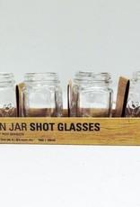 Kikkerland Mason Jar Shot Glasses