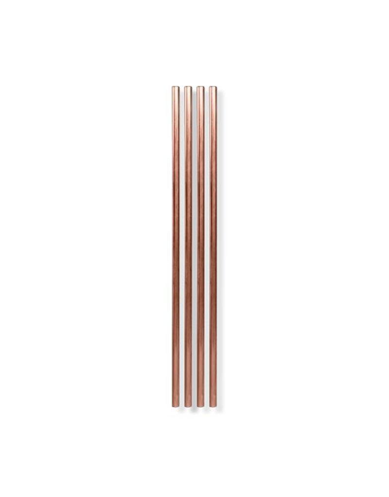 "W & P Designs Metal Straws Copper 10 """