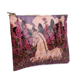 Blue Q Zipper Pouch Unicorn