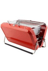 Kikkerland PORTABLE BBQ GRILL BRIEFCASE RED