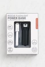 Kikkerland Rescue Flashlight Powerbank Black