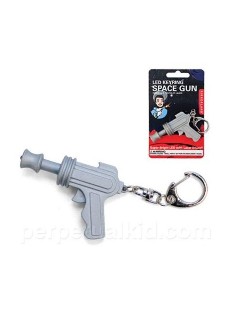 Kikkerland Space Gun LED Keychain