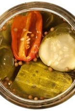 Spicy Maple Bourbon Bread and Butter Pickle