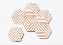 Areaware Table Tiles Optics Coasters
