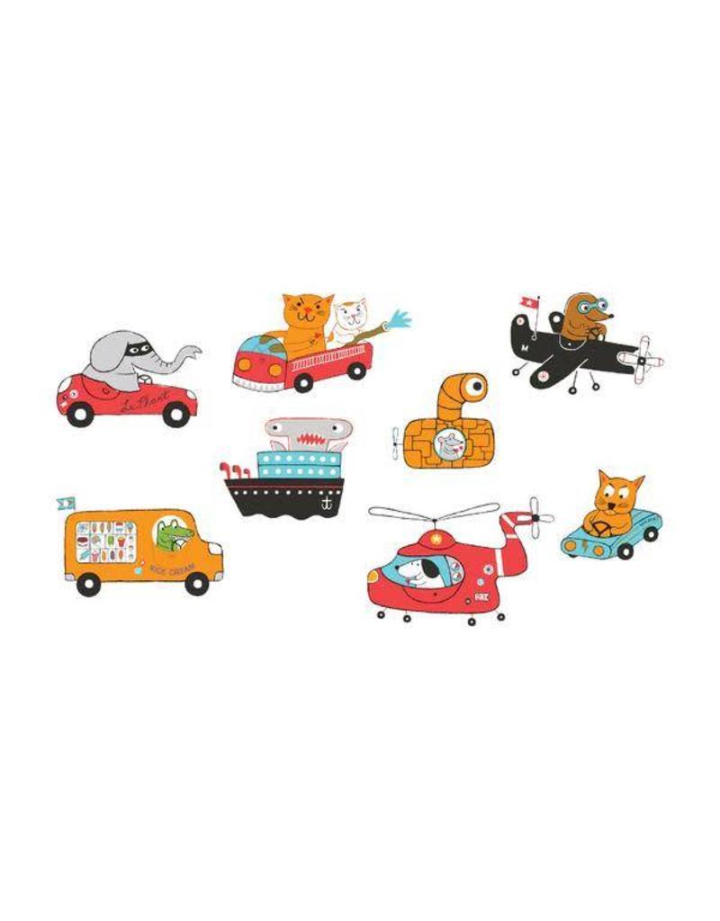 Tattly Tattly Pack Animal Driver Set