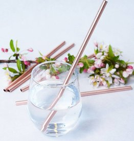 W & P Designs Metal Straws Copper 10 ""