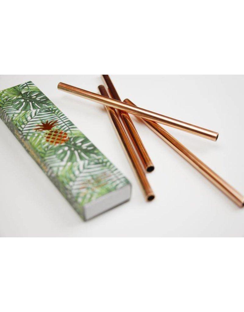 "W & P Designs Metal Straws Copper 5 """