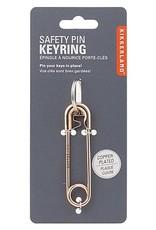 Kikkerland Safety Pin Keyring