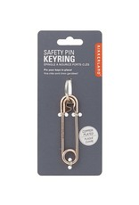 Kikkerland Safety Pin Keyring