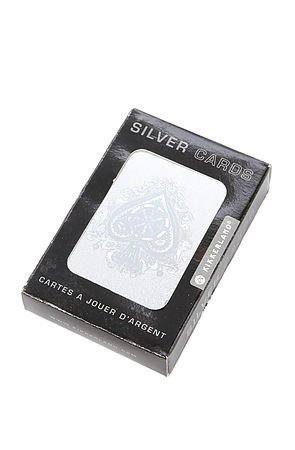 Kikkerland Silver Playing Cards