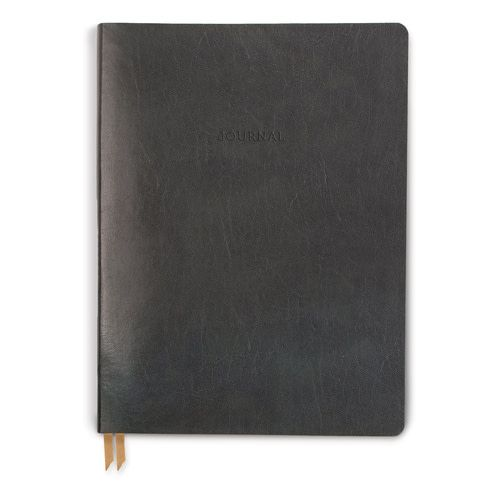 Bonded Leather Large Charcoal