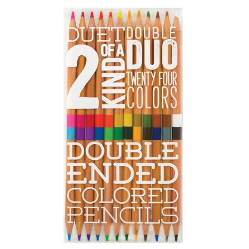 OOLY Two of a Kind Double Ended Colored Pencils - Set of 12