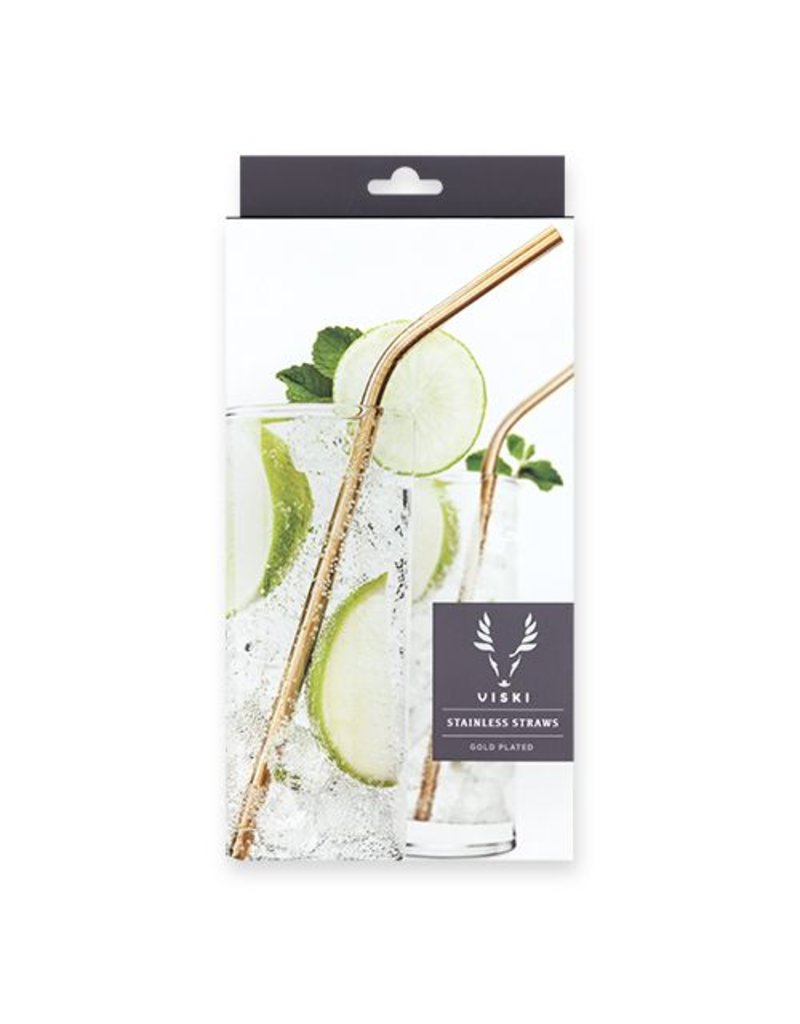 True Fabrications Belmont Gold Cocktail Straws