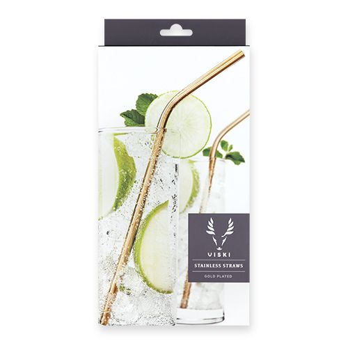 True Fabrications Belmont™ Gold Cocktail Straws